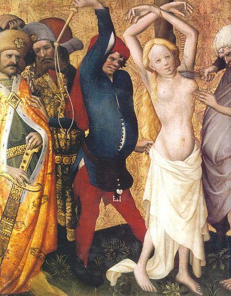 Мастер Франке истязания святой Варвары 1425