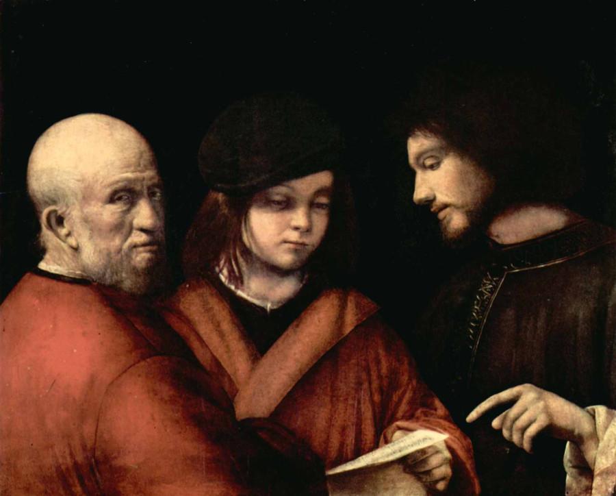 4 Джорджоне 1510 Три возраста человека Флоренция палаццо Питти