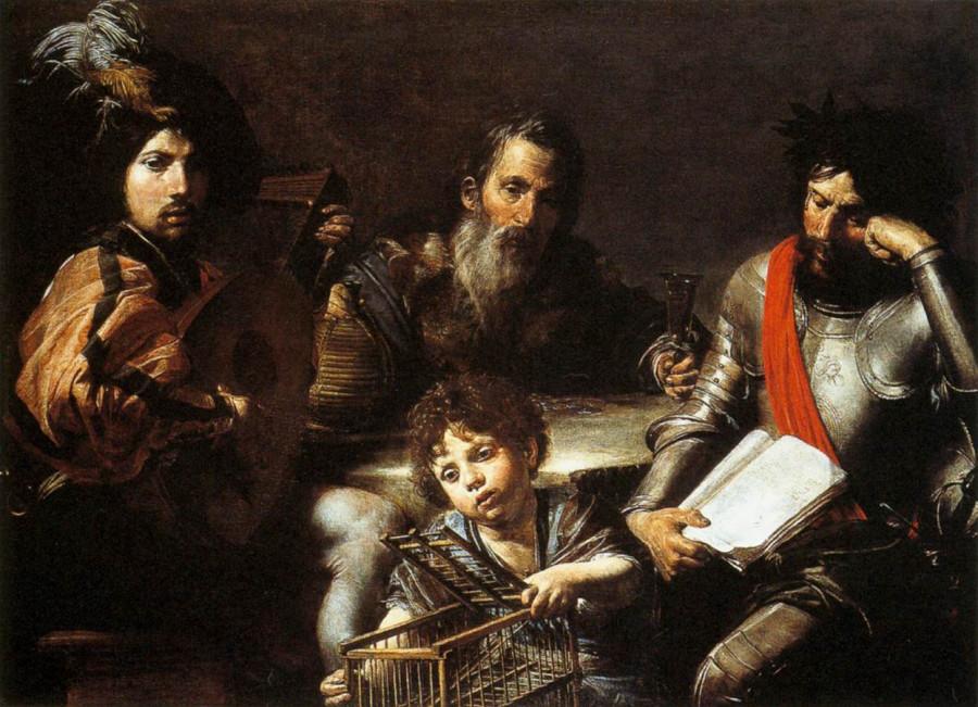 11  Валнтин де Буллон 1628 Национальная галерея ЛондонЧетыре возраста человека