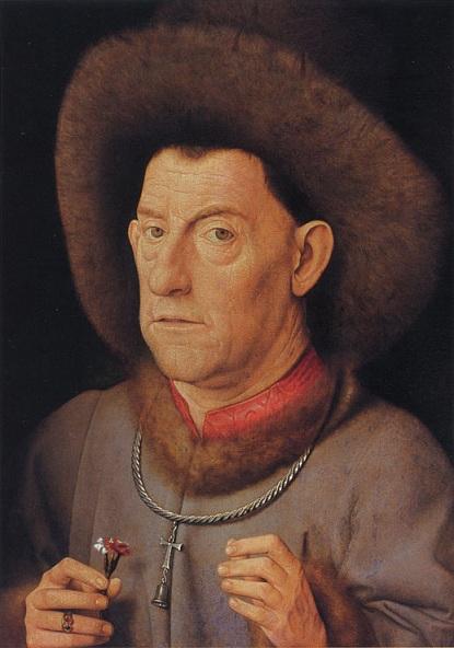 1435 De_man_met_de_anjervan_Jan_van_Eyck_uit_1423.