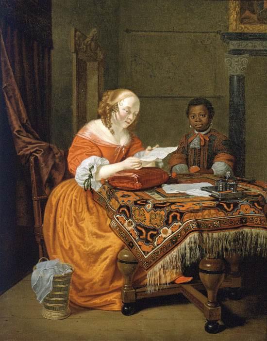 3 Михель ван Мюсхер Девушка за столом