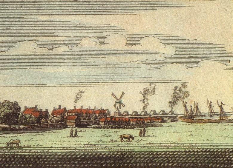 Печь для обжига извести 17 век