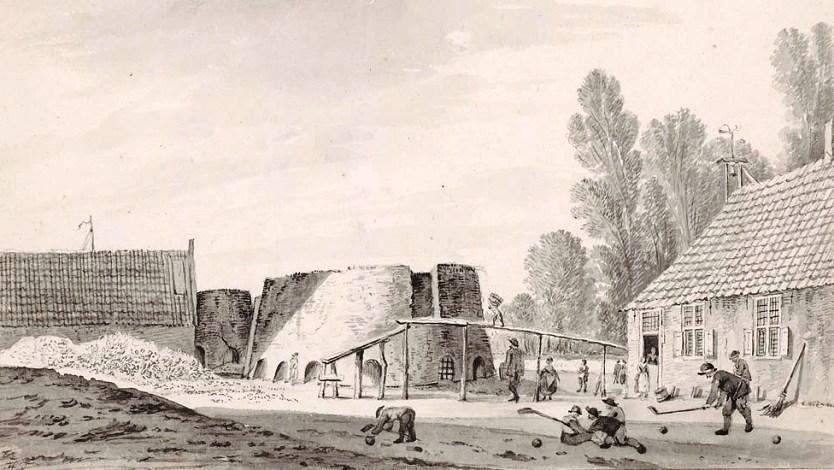 Печь для обжига извести 18 век