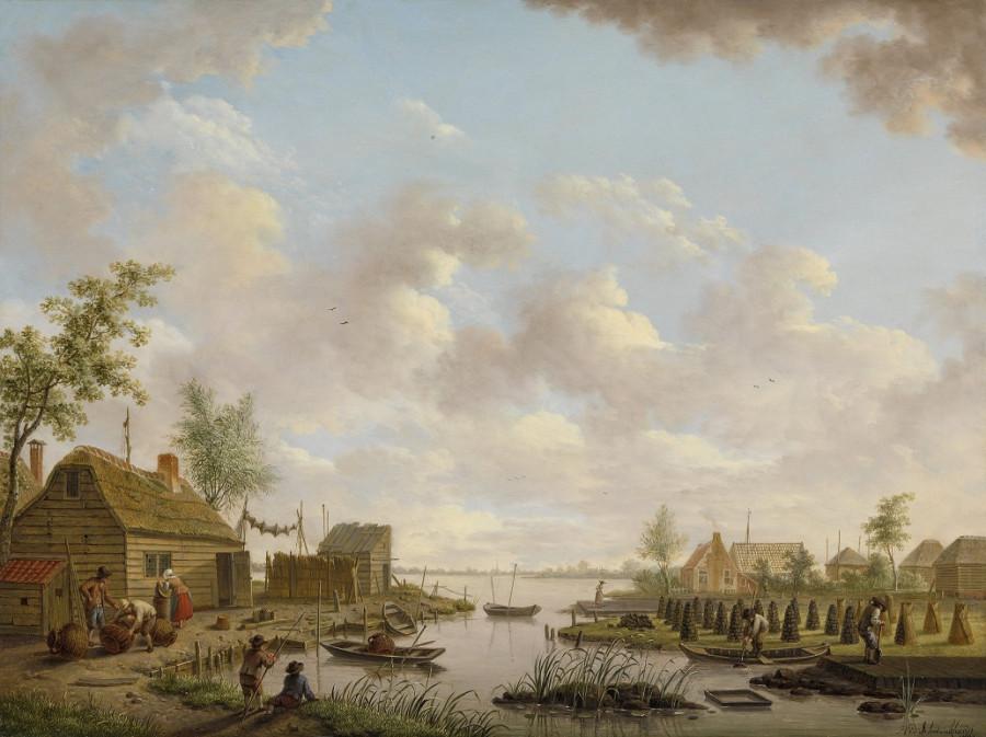 5 Hendrik_Willem_Schweickhardt_-_Landschap_met_vissers_en_turfstekende_boeren_in_het_laagveen