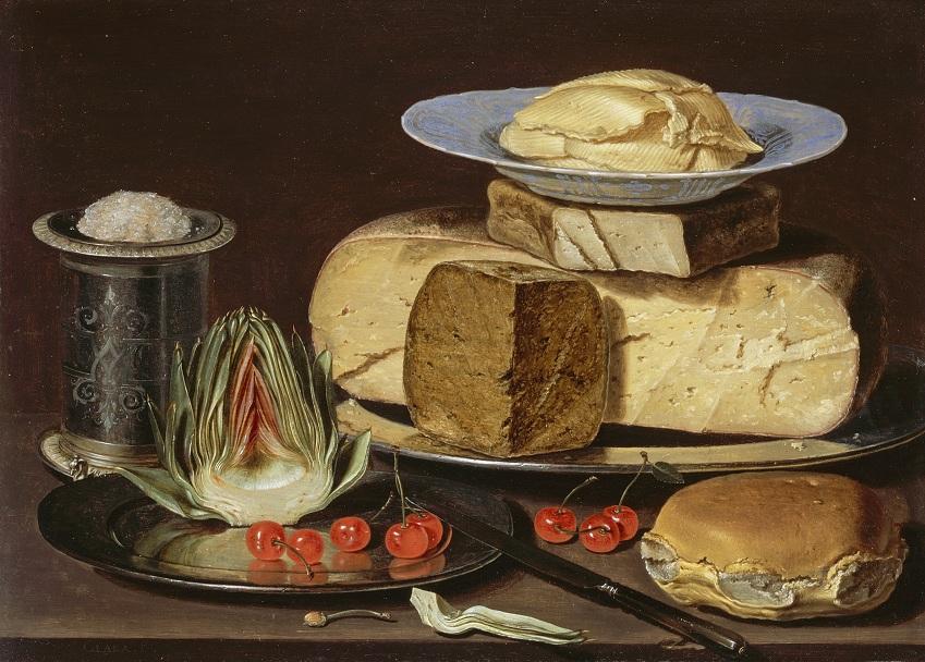 13 Натюрморт с сыром, артишоками и вишней Клара Петерс2