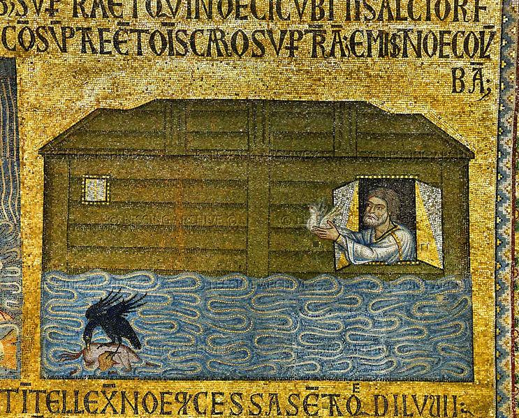 4 Ной выпускает белого голубя _St._Mark's_Venice_(12th-13th_c.)
