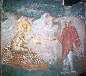7 Иов на Гноище фреска Сербия, 14 век