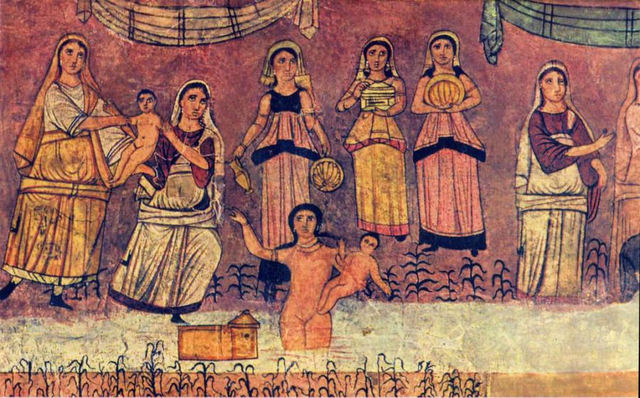 8 Dura_Europos_Моисея находят служанки египетской царевны