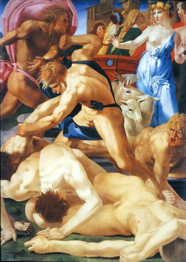 10aМоисей Спасает Дочерей Иофора Россо Фиорентино 16 век
