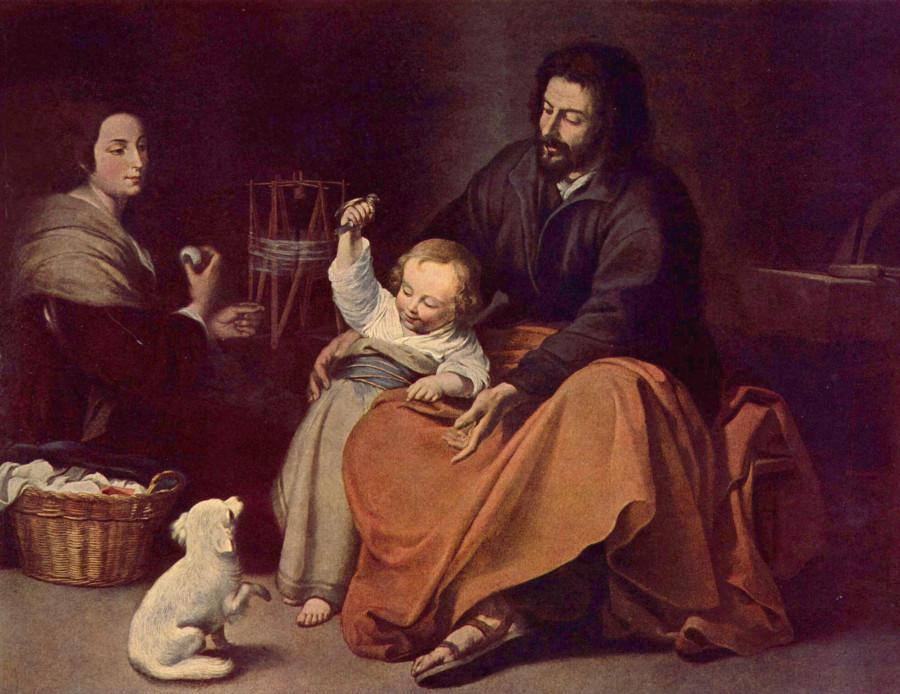 ZBartolomé_Esteban_Perez_Murillo Святое семейство прим 1650