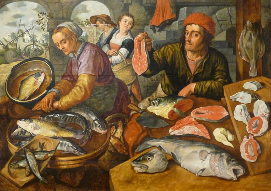 11 Joachim_Beuckelaer-Рыбная лавка