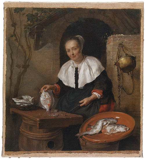 3 Метсю A Woman Cleaning Fish