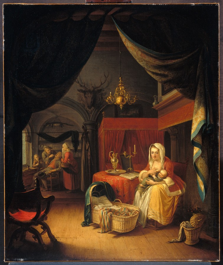 8 Геррит Доу Drieluik met allegorie op het kunstonderwijs (Triptych allegory of art training)