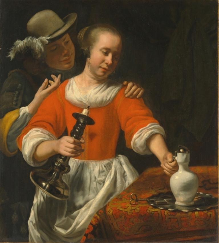 25 Корнелиус Бисшоп A Young Woman and a Cavalier