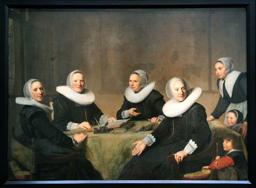 26 Большой портрет патронесс Гарлемского приюта Йохан Корнелис Верспронк