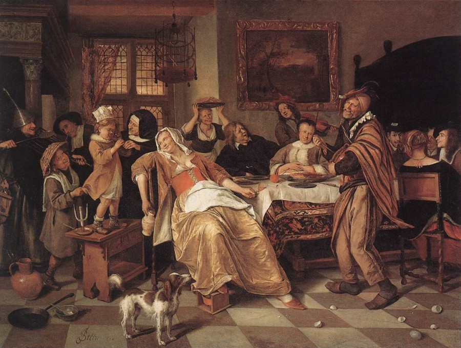 26ф jan_steen_-_the_bean_feast_-_wga21734