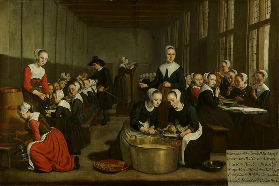 27 Ян Викторс кормление девочек сирот в Диаконском приюте, 1659 - 1660
