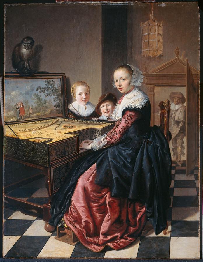 27 Ян молинер Portret van Judith Leyster (160010-1660)
