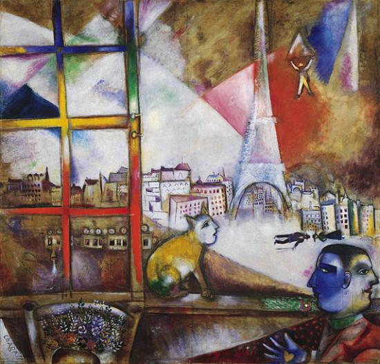Марк Шагал Париж. Вид из окна