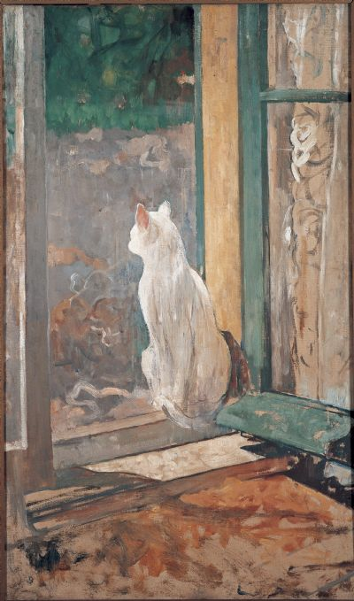 Якобус ван Лоой Белый кот в открытом окне