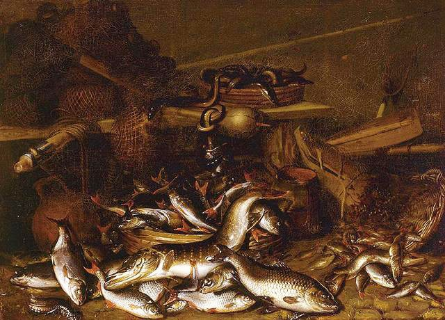 13 Johannes-Fabritius-Still-life-of-fish-eels-and-fishing-nets