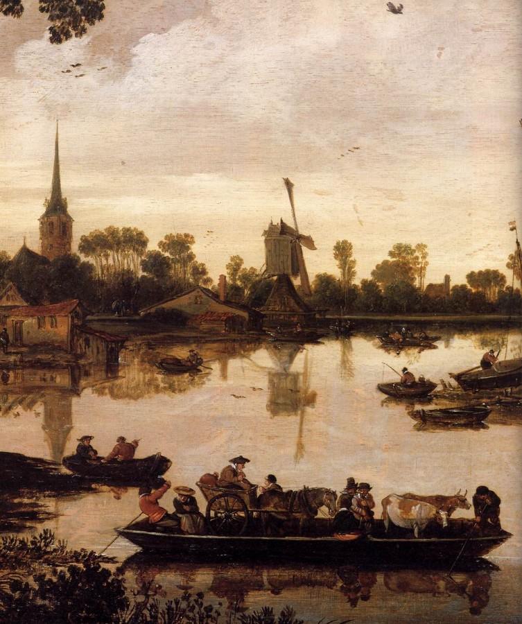 1 Эсайяс ван де Вельде Ferry Boat (detail2)