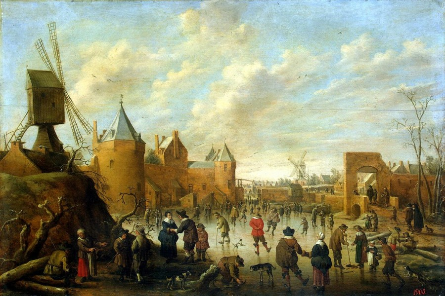 2 Йос Крнелис Дрохслот Winter in a Dutch Town   ,   Between 1586 and 1666[1]