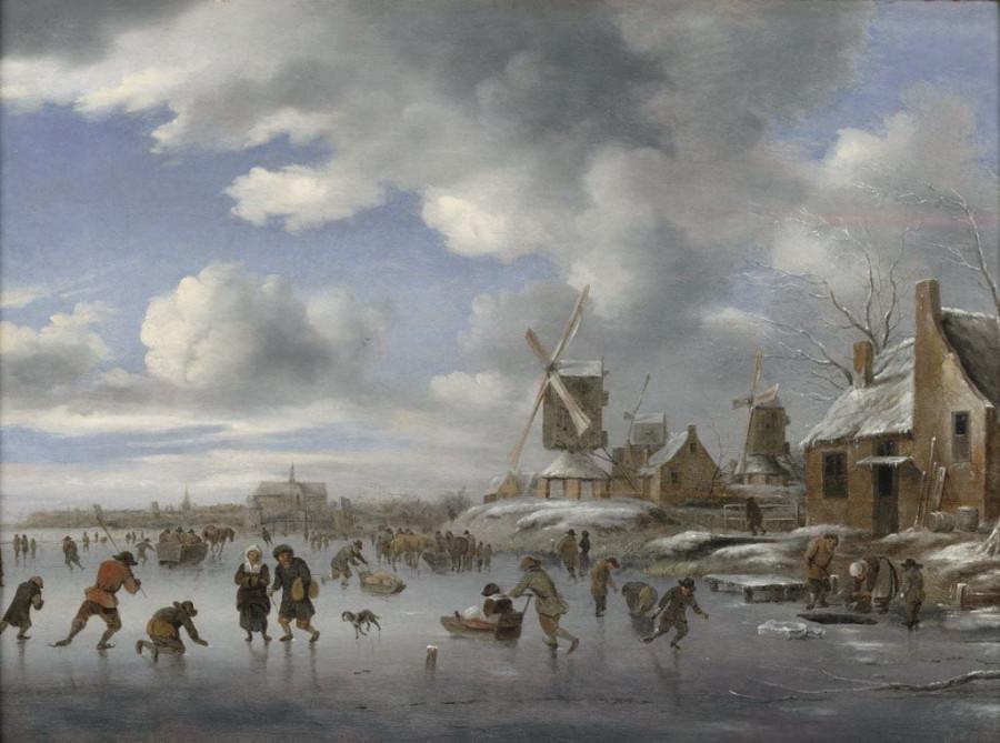 2 Клаус Молинер Winter Scene with Skaters, n.d.