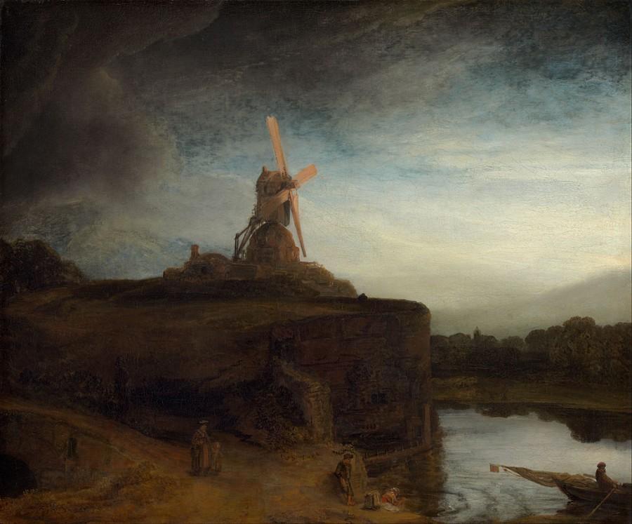 2 Мельница, Рембранд 1648