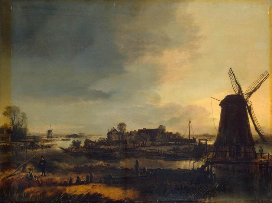 3 Арт ван дер Неер _Landscape_With_Windmill