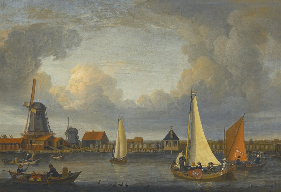 4 Абрахам Сторк _A_river_landscape_with_fishermen_in_rowing_boats_(1679) (1)