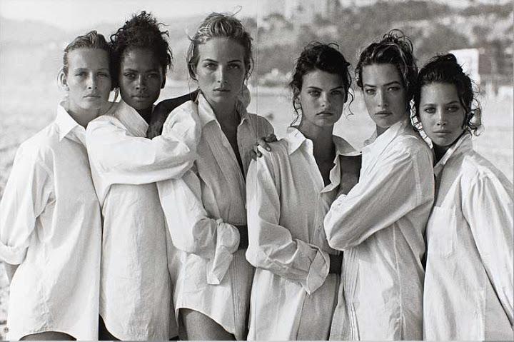 1988 Estelle LeFebure, Karen Alexander, Rachel Williams, Linda Evangelista,