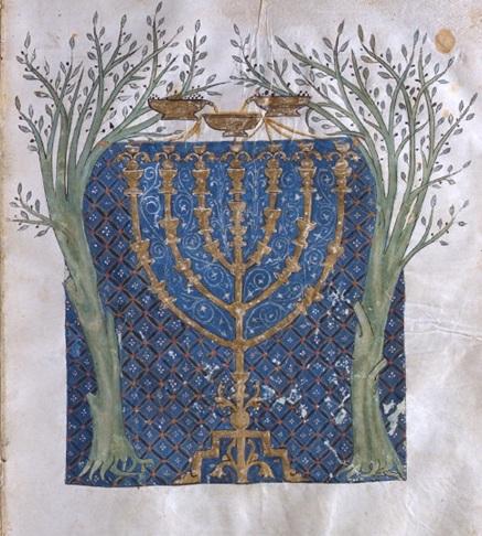 7 olive-trees-flanking-menorah_450 Испания 13 век