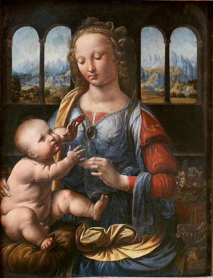 12 Leonardo_da_Vinci_Madonna_of_the_Carnation