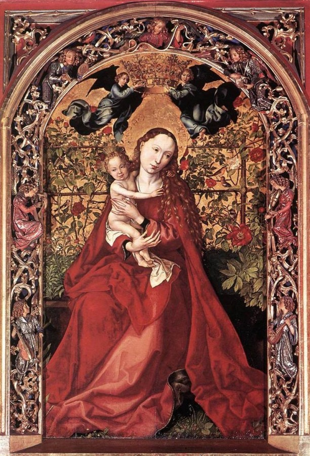 15 Мартин шонгацэр madonna-of-the-rose-bush
