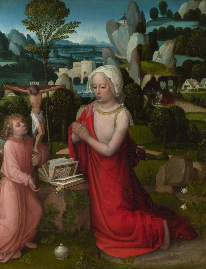 24 Adriaen_Ysenbrandt_-_The_Magdalen_in_a_Landscape_-пероцвет - надежда