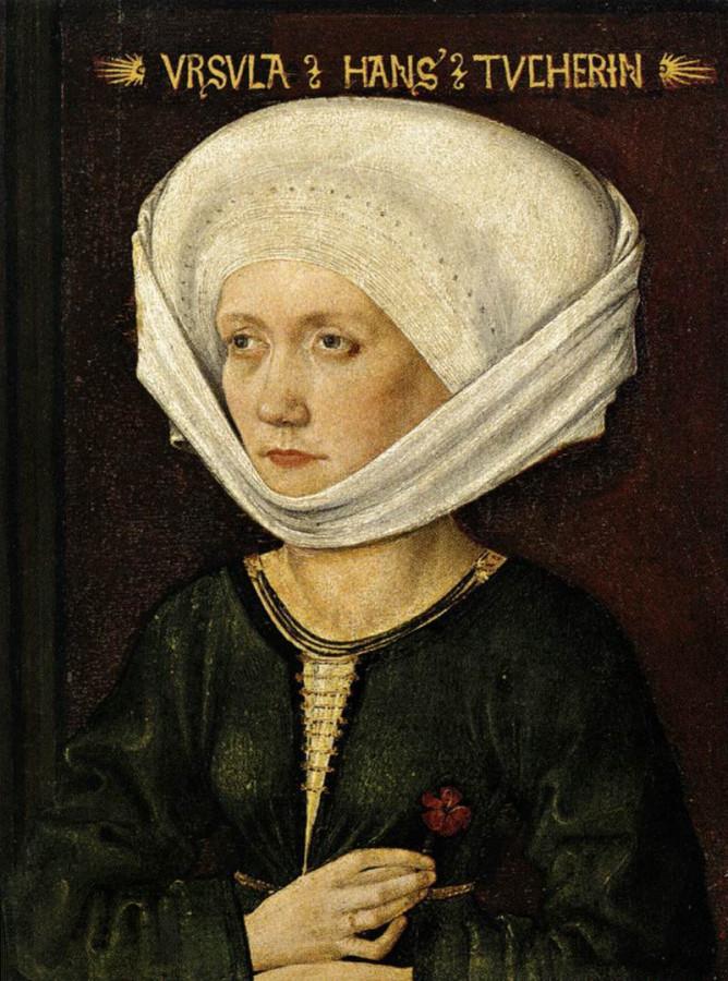 32 Портрет Урсула_tucher Михаэль Вольгемут 1478