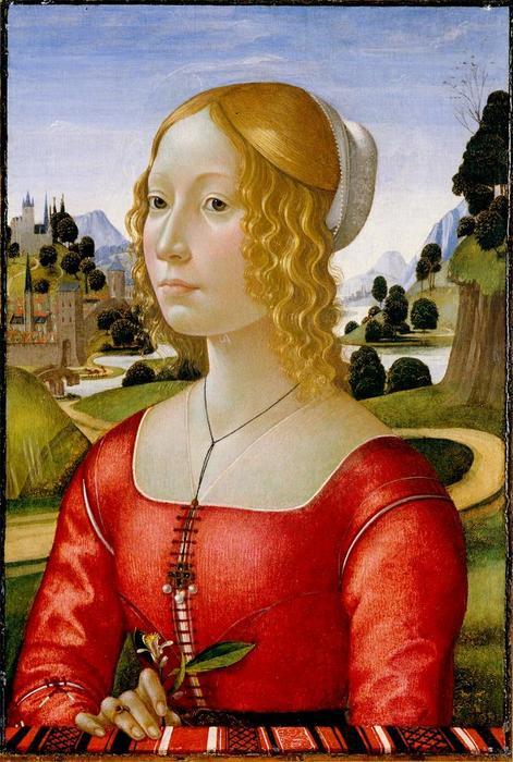 34 1485 доменико джерландайо портрет дамы апельсин
