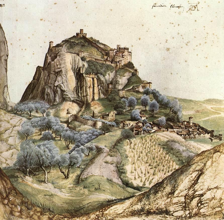 Вид на далину Арно. Замок Арко 1495