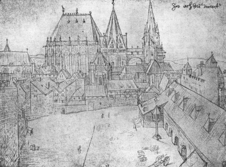 1520 Церковь Богоматери в Аахене