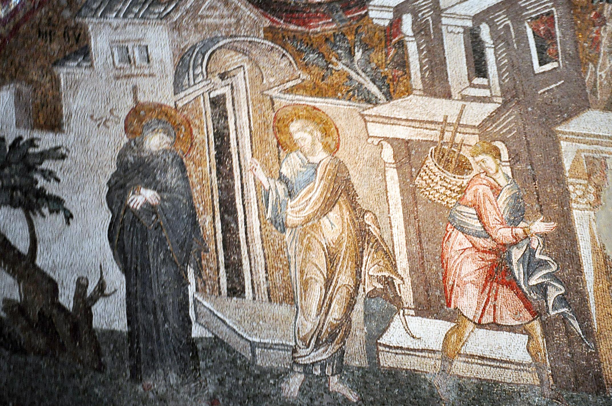 Иосиф покидает Марию отправляясь на работы