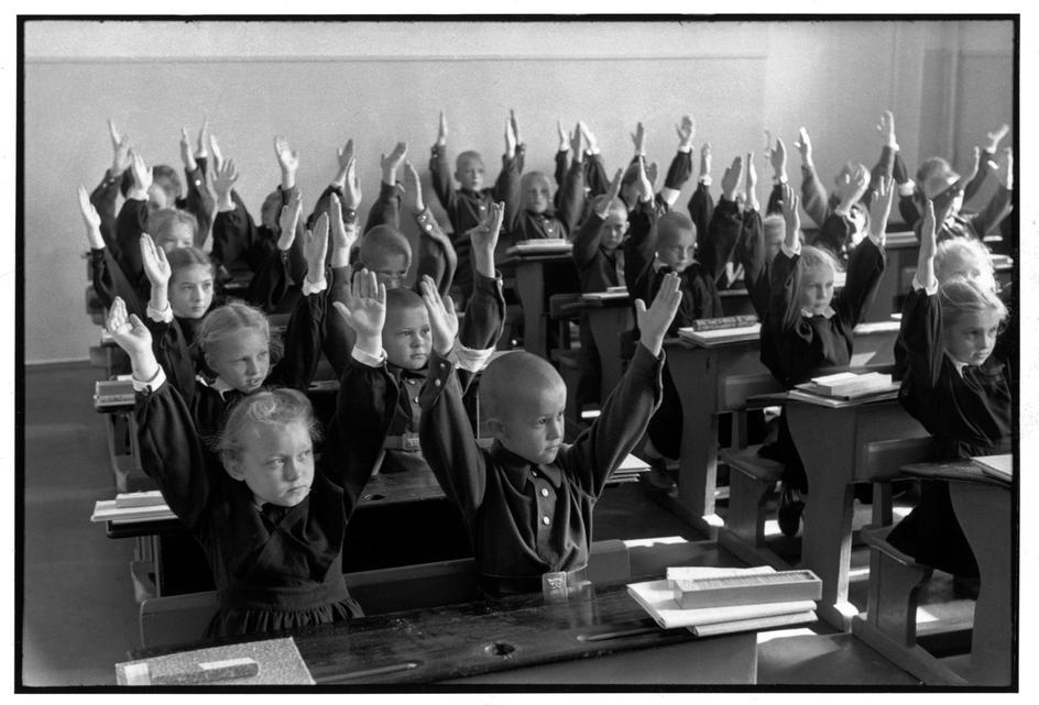 1954 Москва. Занятие в начальной школе