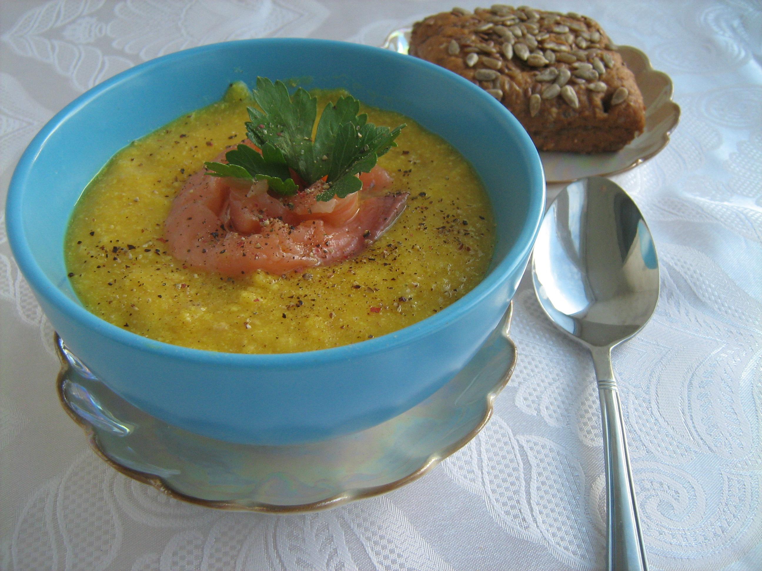 сырный суп с копченым лососем рецепт