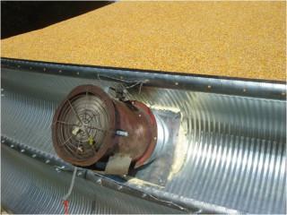 Хранение зерна. Система вентиляции - вентилятор нагнетающий воздух