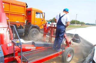 Хранение зерна в хозяйстве. Выгрузка зерна из рукавов (пластиковых трехслойных контейнеров, мешков, шлангов)
