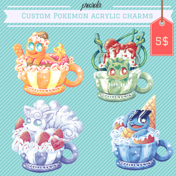 Custom charms for preorder :D: pkmncollectors