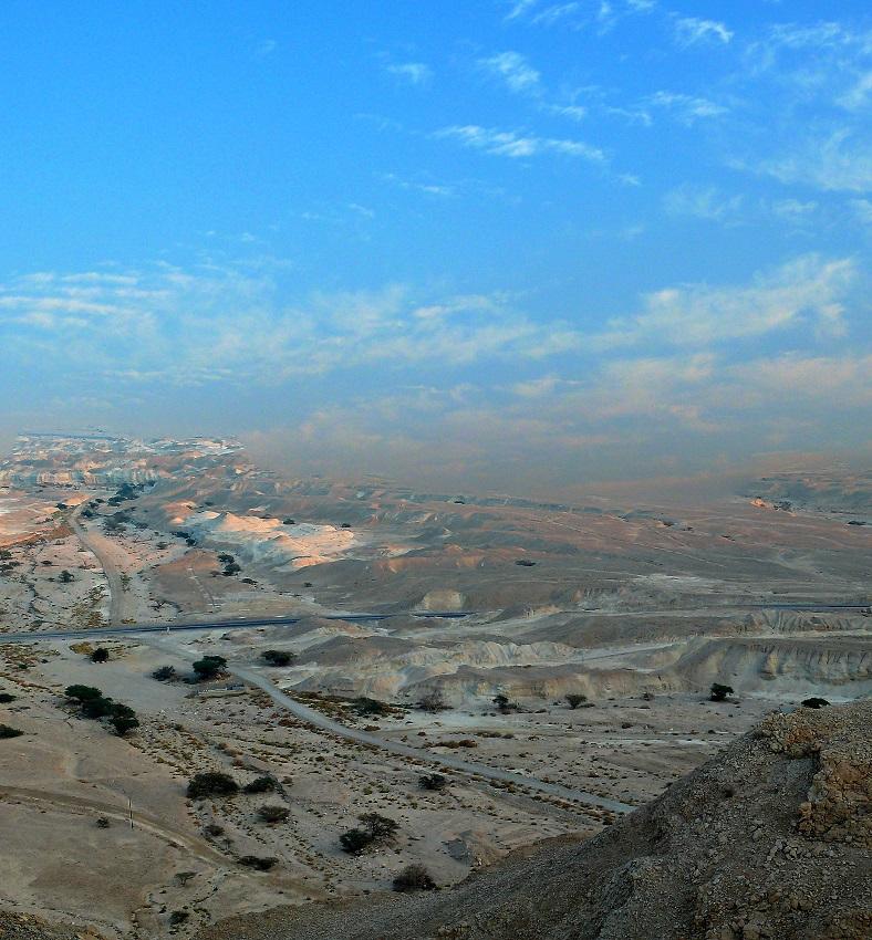 Вид на дорогу Эйлат- Мертвое море. ьь