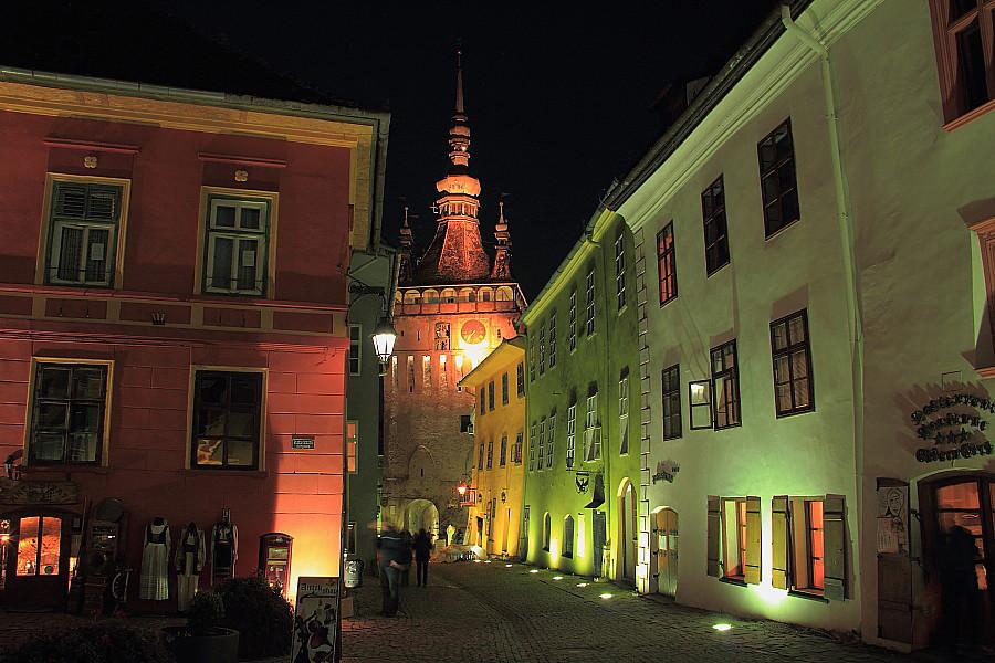 45 Часовая башня ночью
