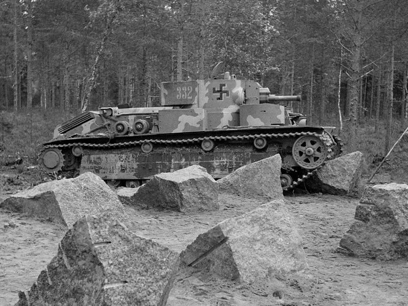 Т-28, финский камуфляж.