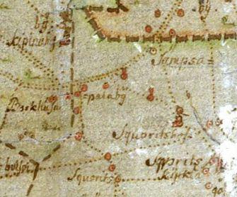 шведская карта 1704